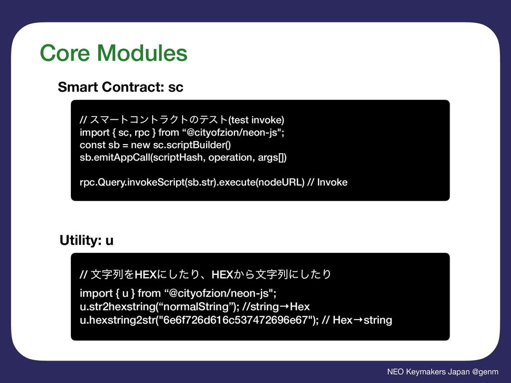 NEO Keymakers Japan @genm Core Modules Smart Co...