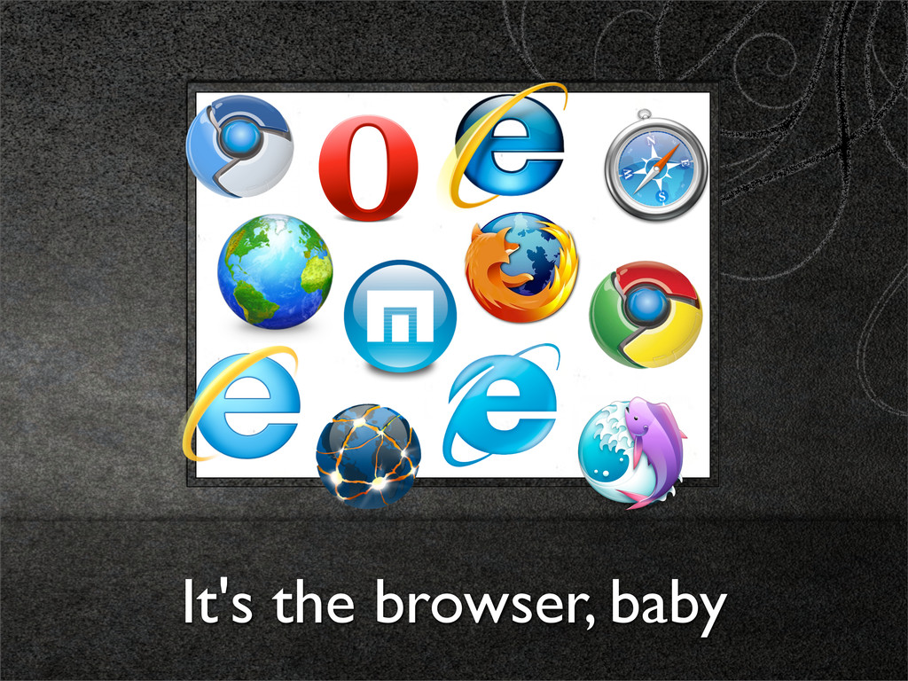 It's the browser, baby