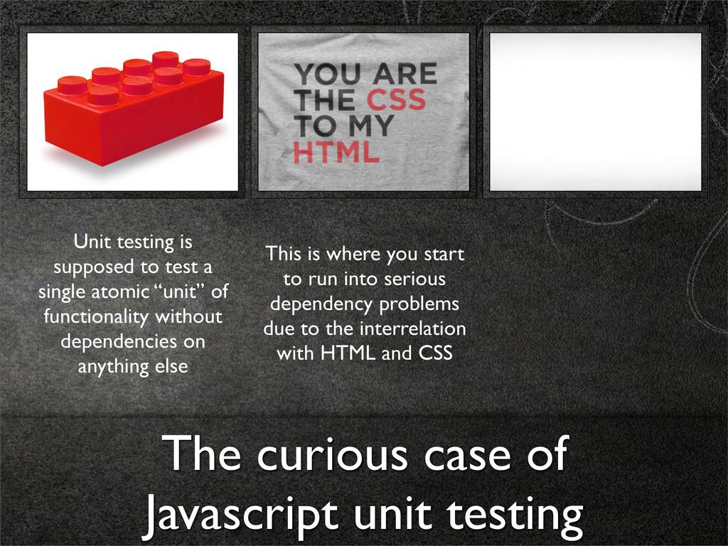 The curious case of Javascript unit testing Uni...