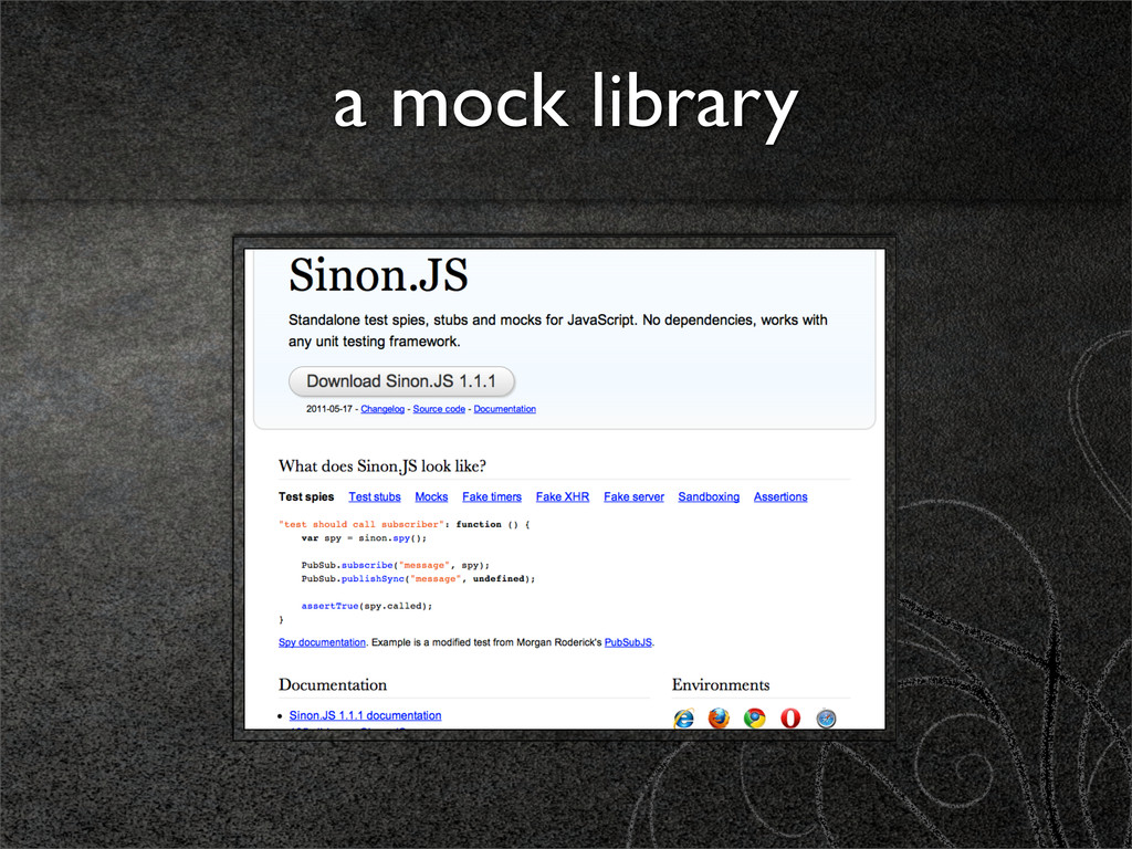 a mock library