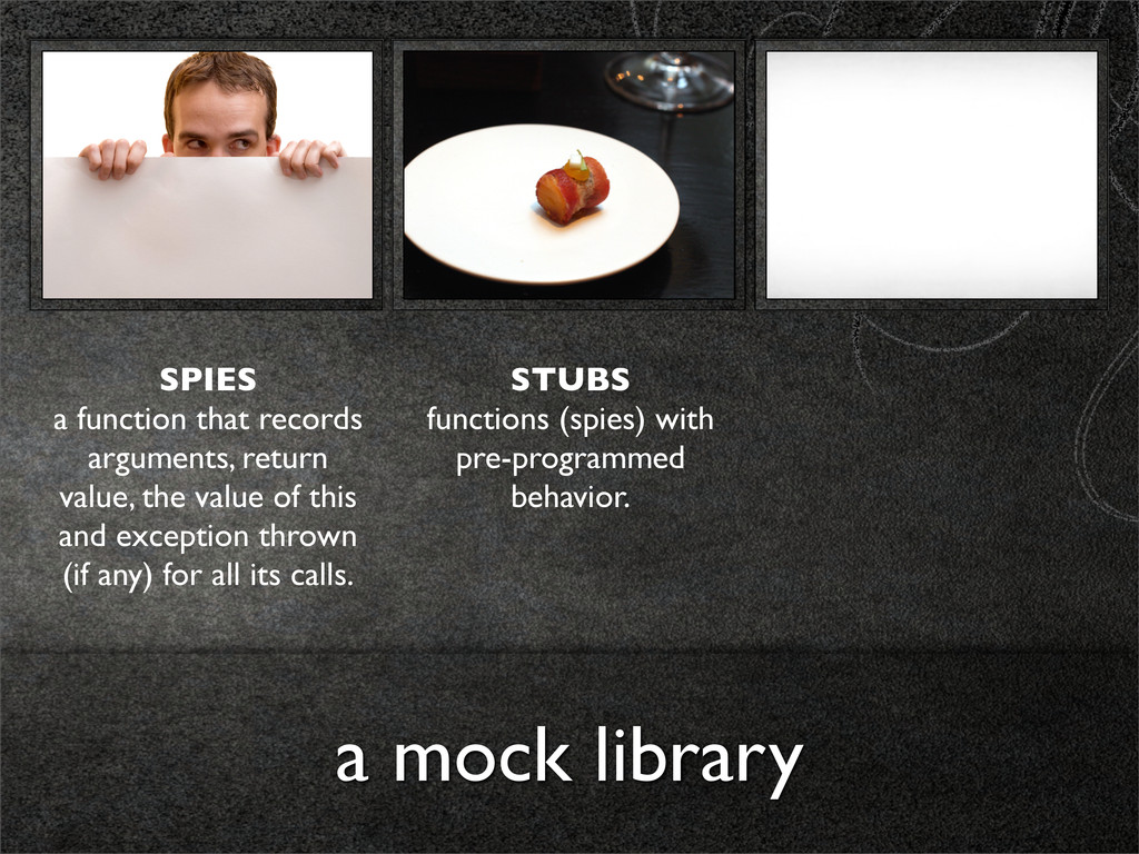 a mock library SPIES a function that records ar...