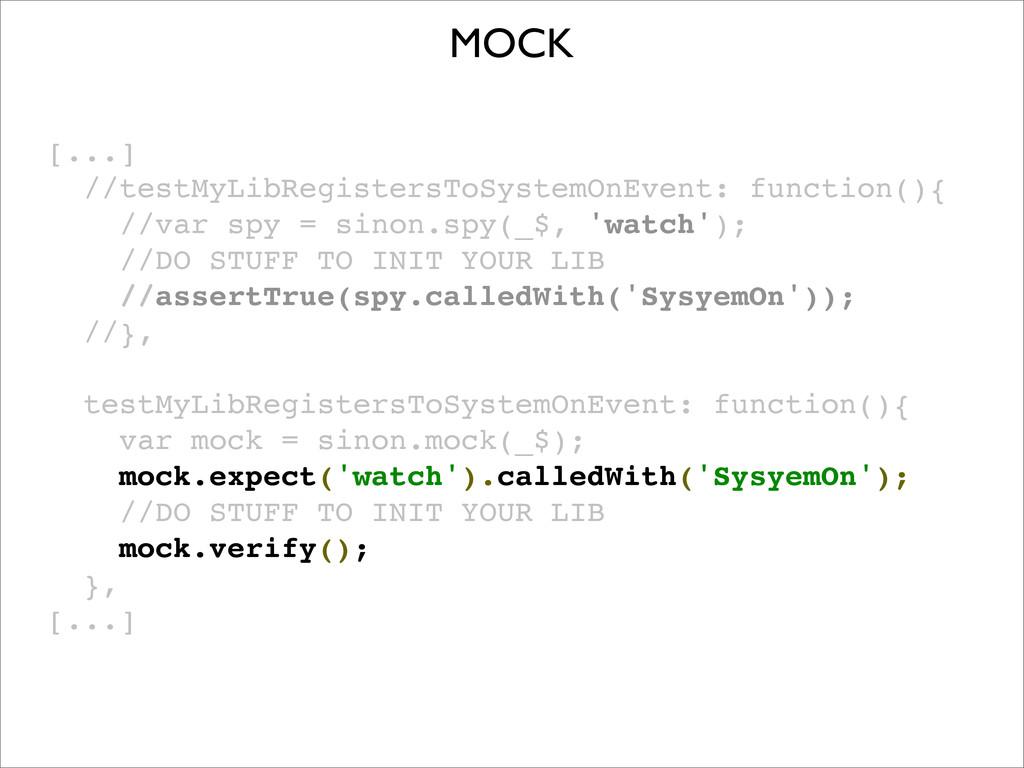 [...] //testMyLibRegistersToSystemOnEvent: func...