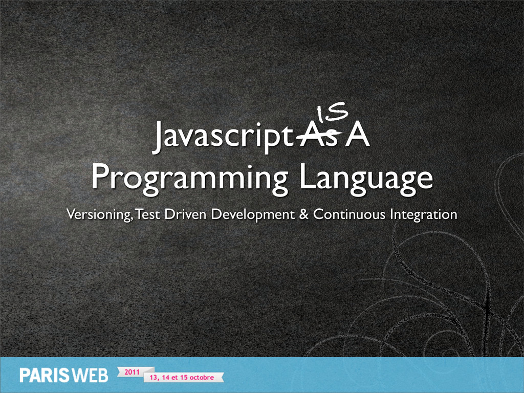 Javascript As A Programming Language Versioning...