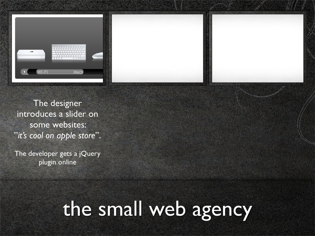 the small web agency The designer introduces a ...