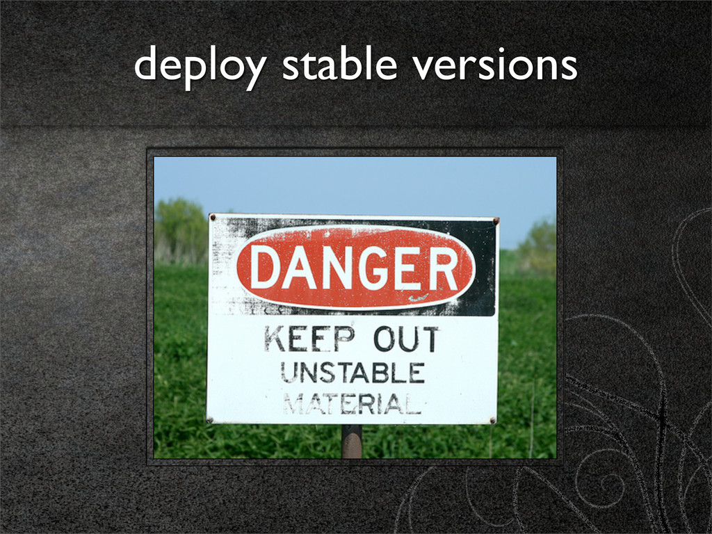 deploy stable versions