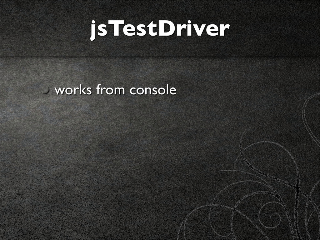 jsTestDriver works from console