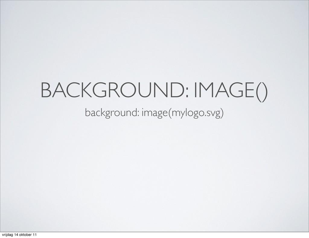 BACKGROUND: IMAGE() background: image(mylogo.sv...
