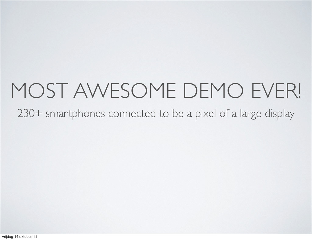 MOST AWESOME DEMO EVER! 230+ smartphones connec...
