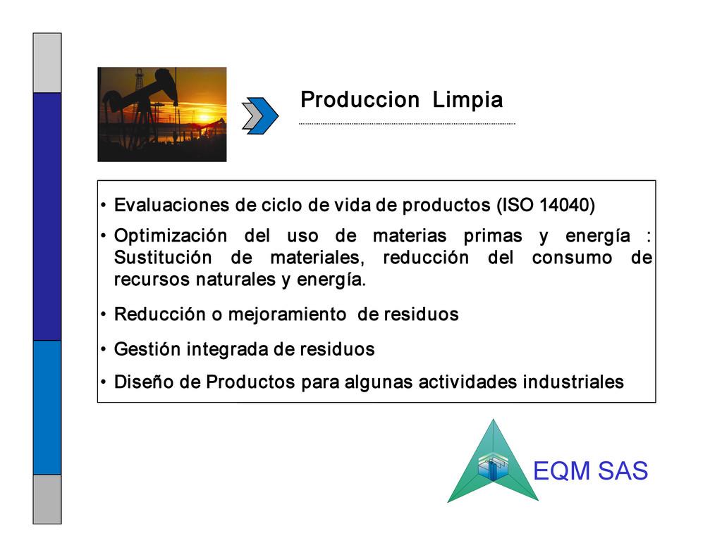 • Evaluaciones de ciclo de vida de productos (I...