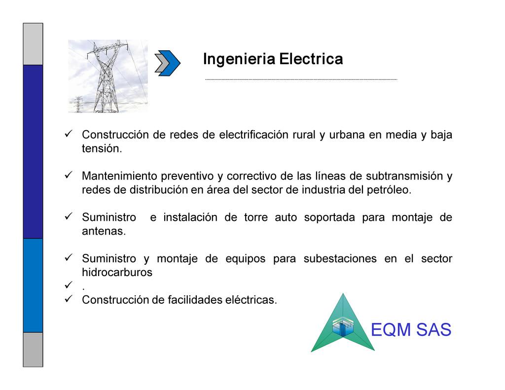 Ingenieria Electrica ü Construcción de redes de...