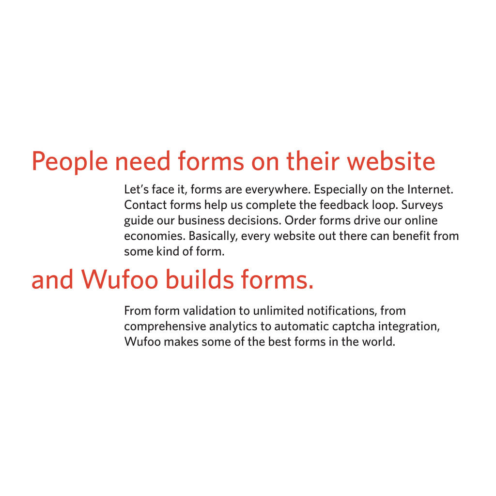 People need forms on their website Let's face i...