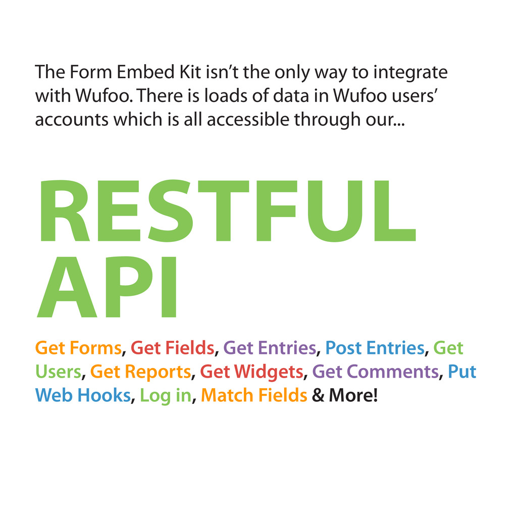The Form Embed Kit isn't the only way to integr...