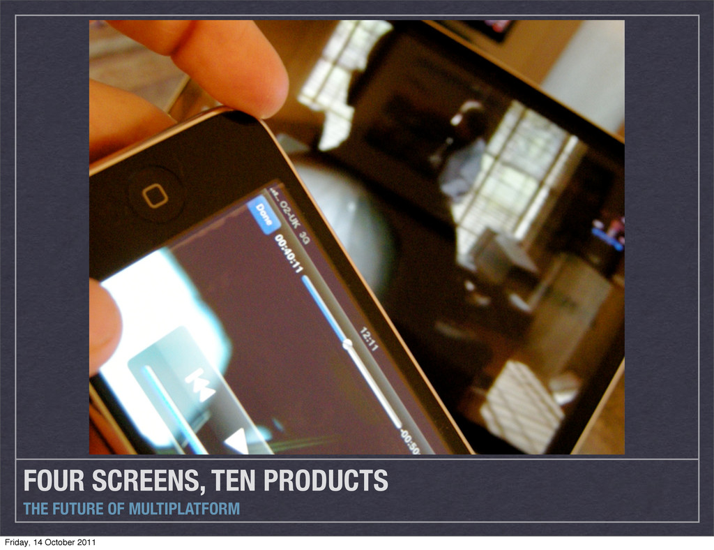 FOUR SCREENS, TEN PRODUCTS THE FUTURE OF MULTIP...
