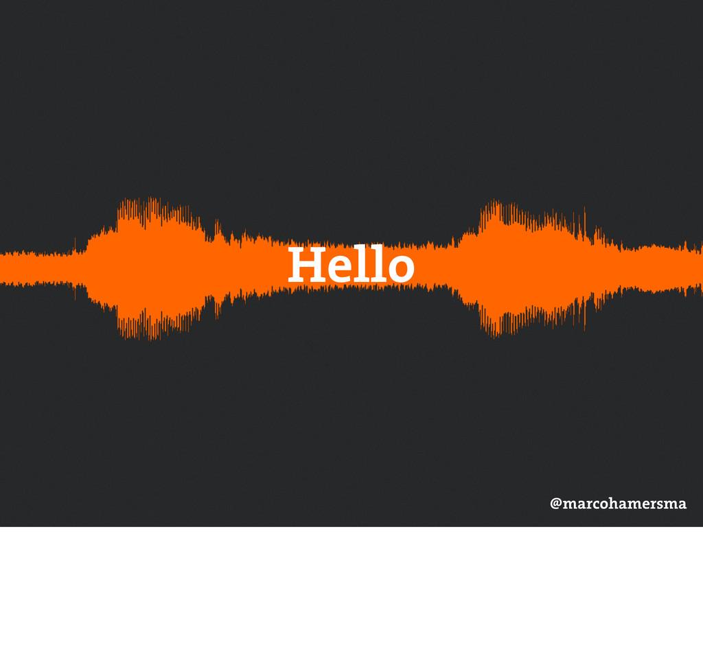 Hello @marcohamersma