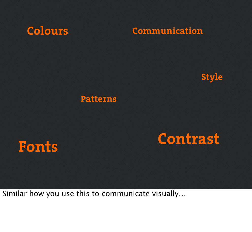 Colours Fonts Patterns Communication Style Cont...