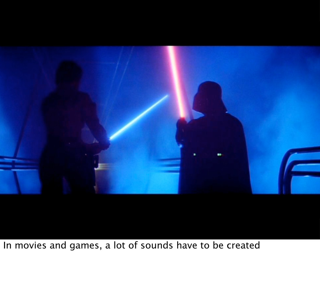 In movies and games, a lot of sounds have to be...