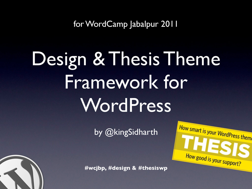 Design & Thesis Theme Framework for WordPress b...