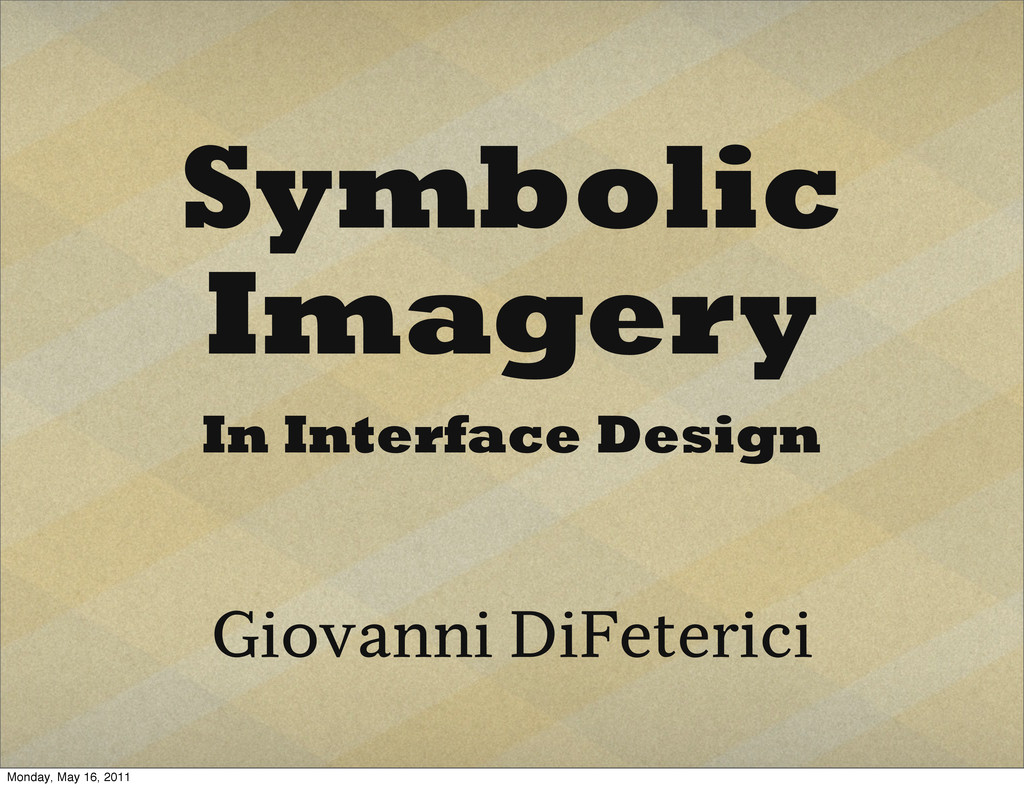 Symbolic Imagery In Interface Design Giovanni D...