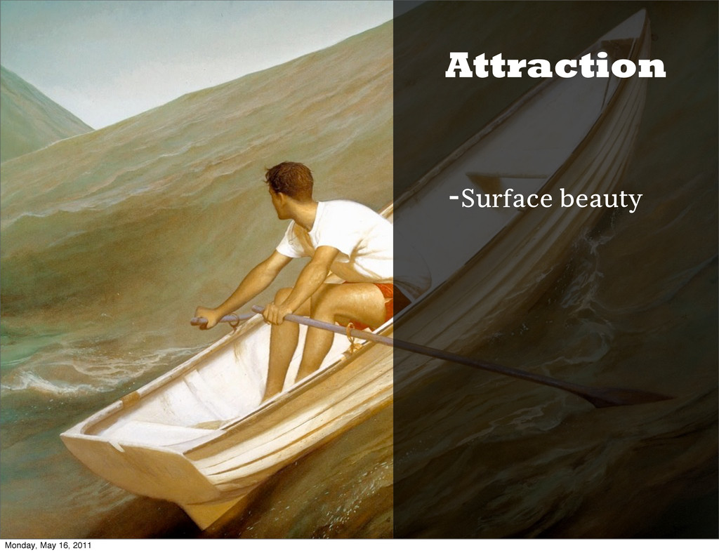 Attraction -Surface beauty Monday, May 16, 2011