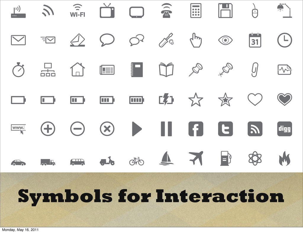 Symbols for Interaction Monday, May 16, 2011