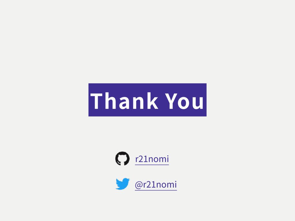 Thank You @r21nomi r21nomi