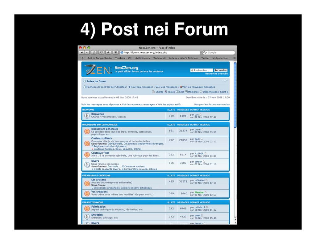 4) Post nei Forum