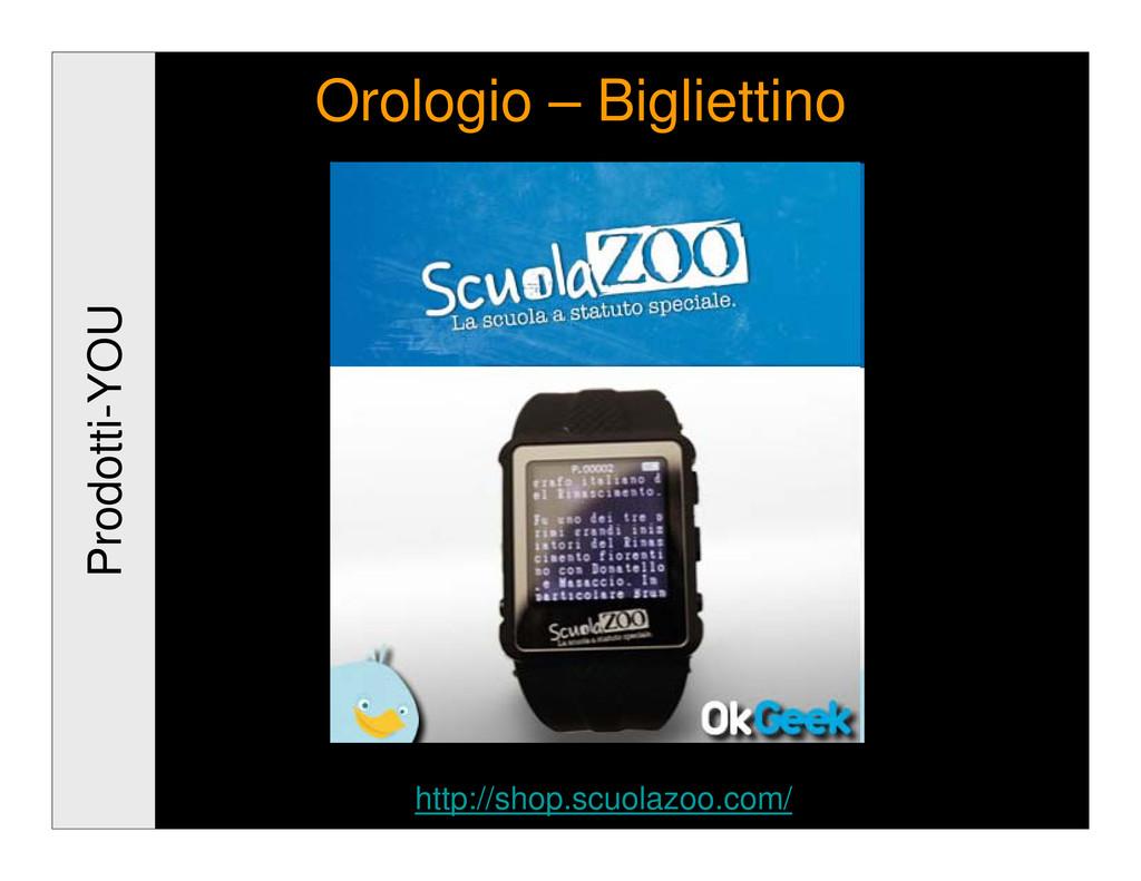 Prodotti-YOU Orologio – Bigliettino http://shop...