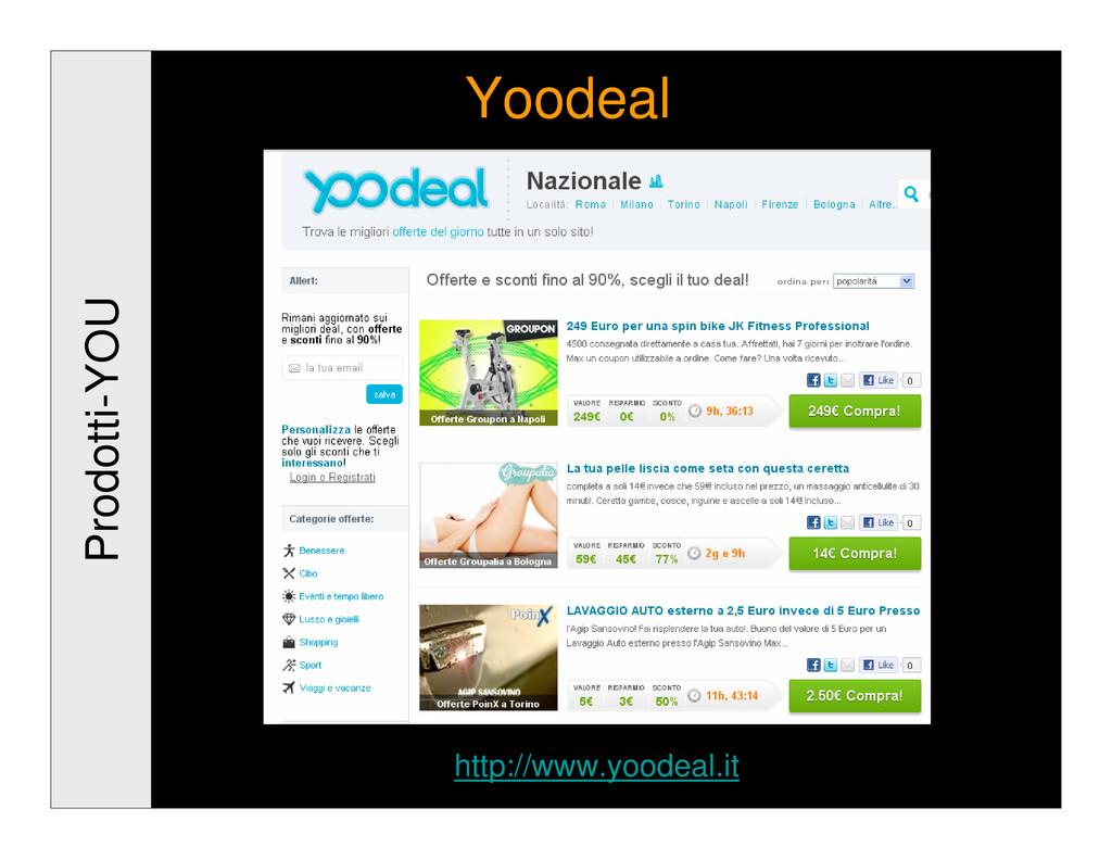 Prodotti-YOU Yoodeal http://www.yoodeal.it