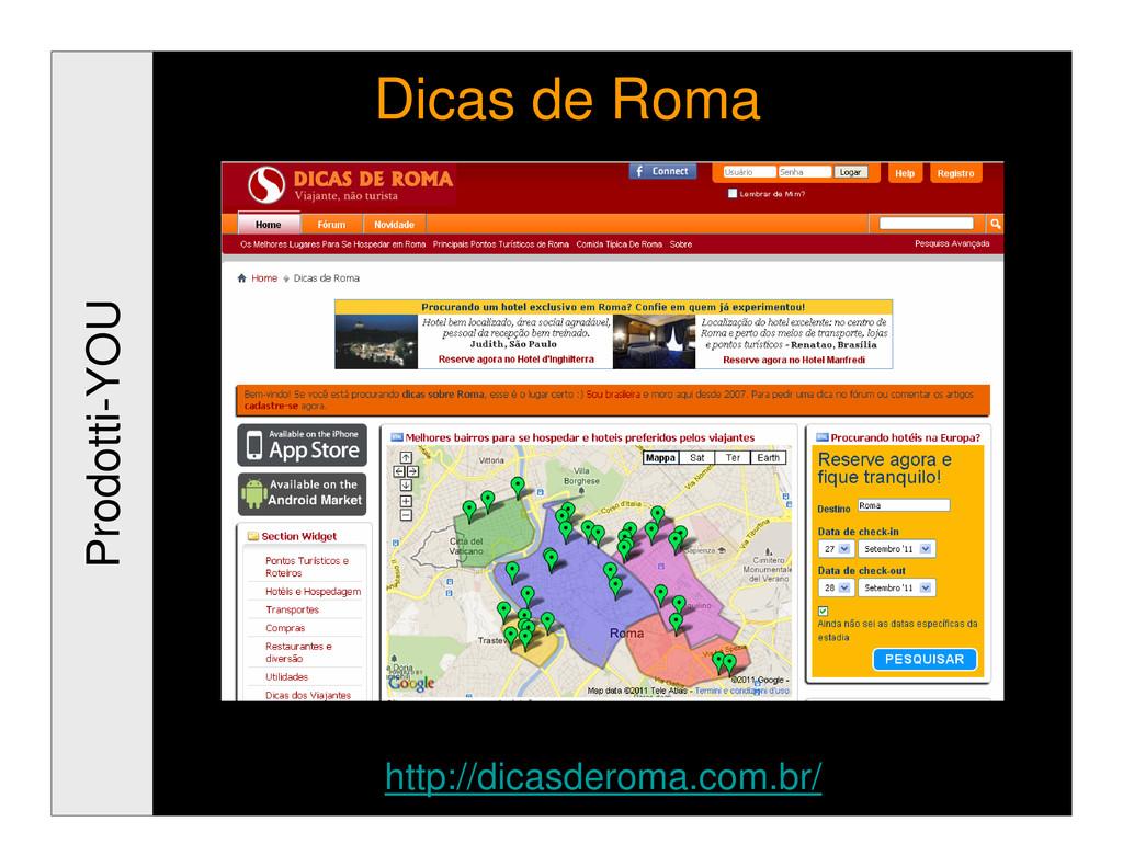Prodotti-YOU Dicas de Roma http://dicasderoma.c...