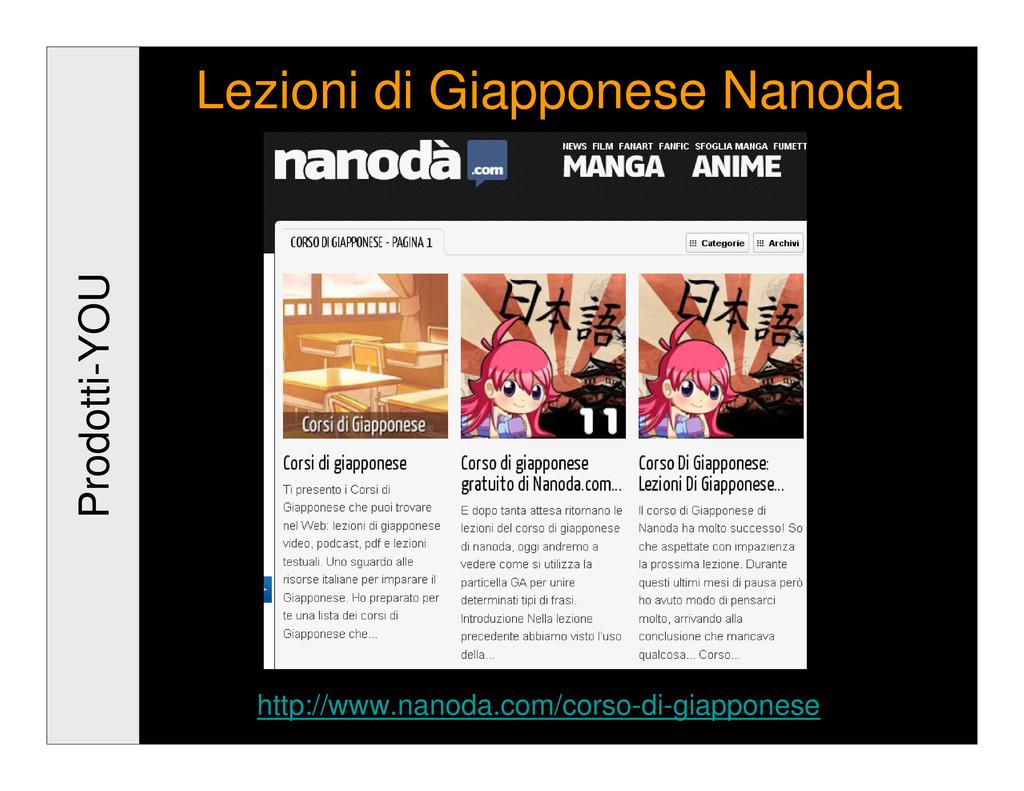 Prodotti-YOU Lezioni di Giapponese Nanoda http:...