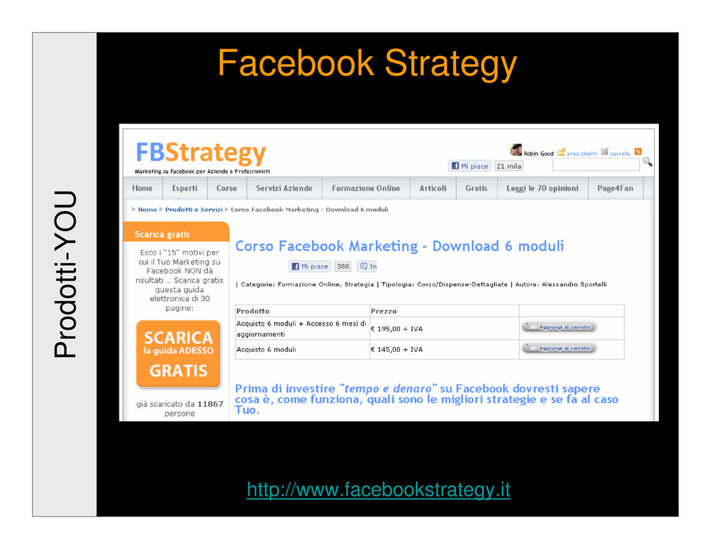 Prodotti-YOU Facebook Strategy http://www.faceb...