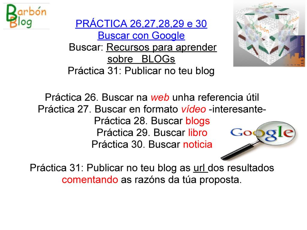 Práctica 26. Buscar na web unha referencia útil...