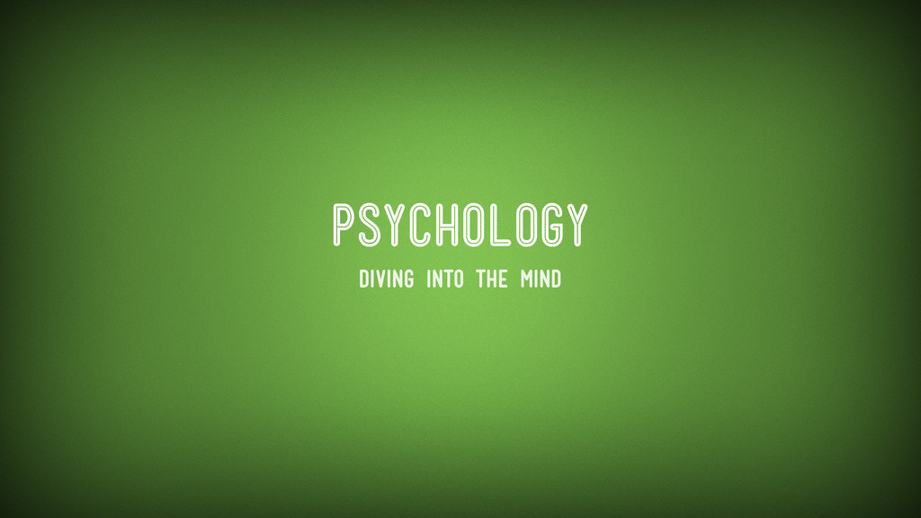 psychology Diving into the mind