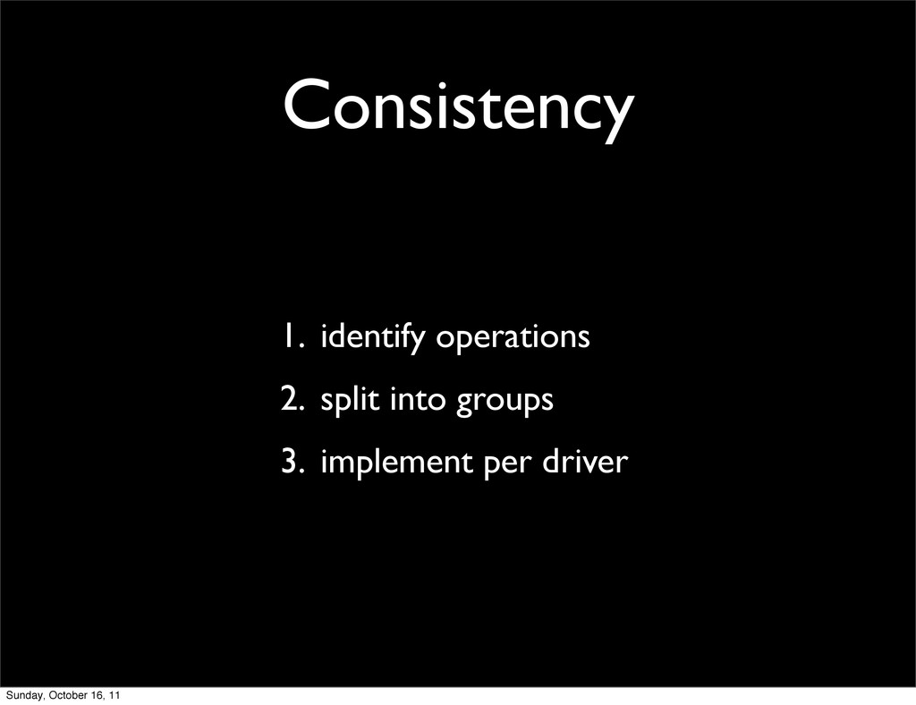 Consistency 1. identify operations 2. split int...