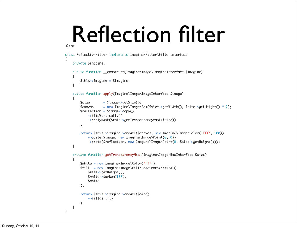 Reflection filter <?php class ReflectionFilter im...