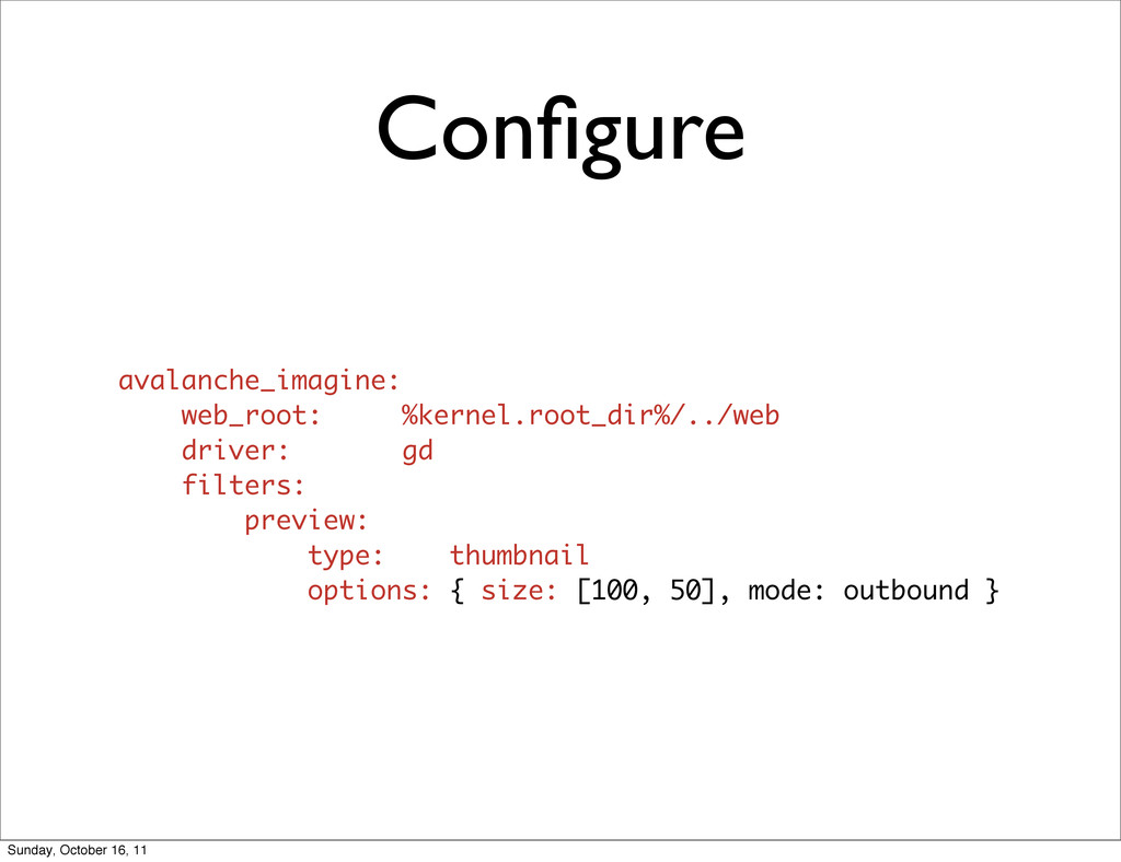 Configure avalanche_imagine: web_root: %kernel.r...