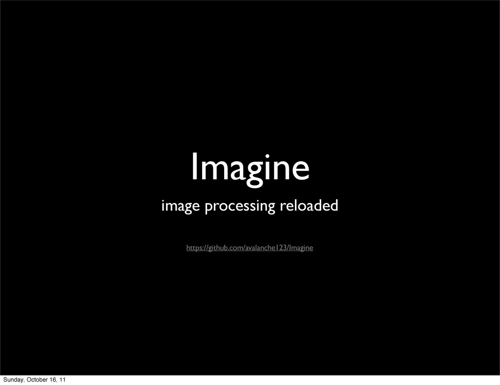 Imagine image processing reloaded https://githu...