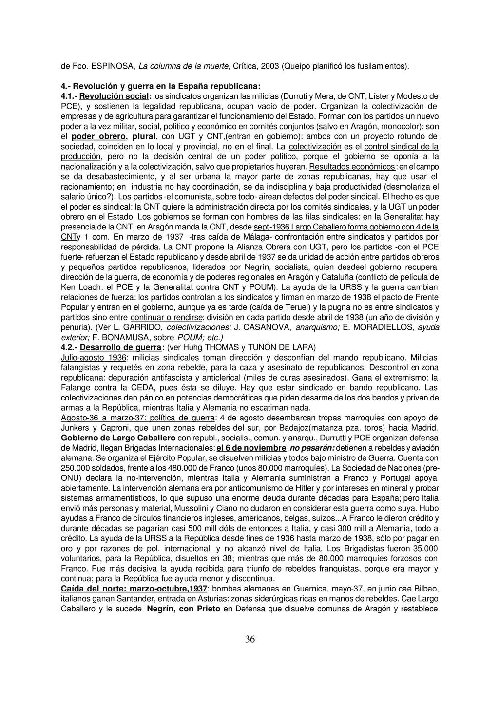 36 de Fco. ESPINOSA, La columna de la muerte, C...