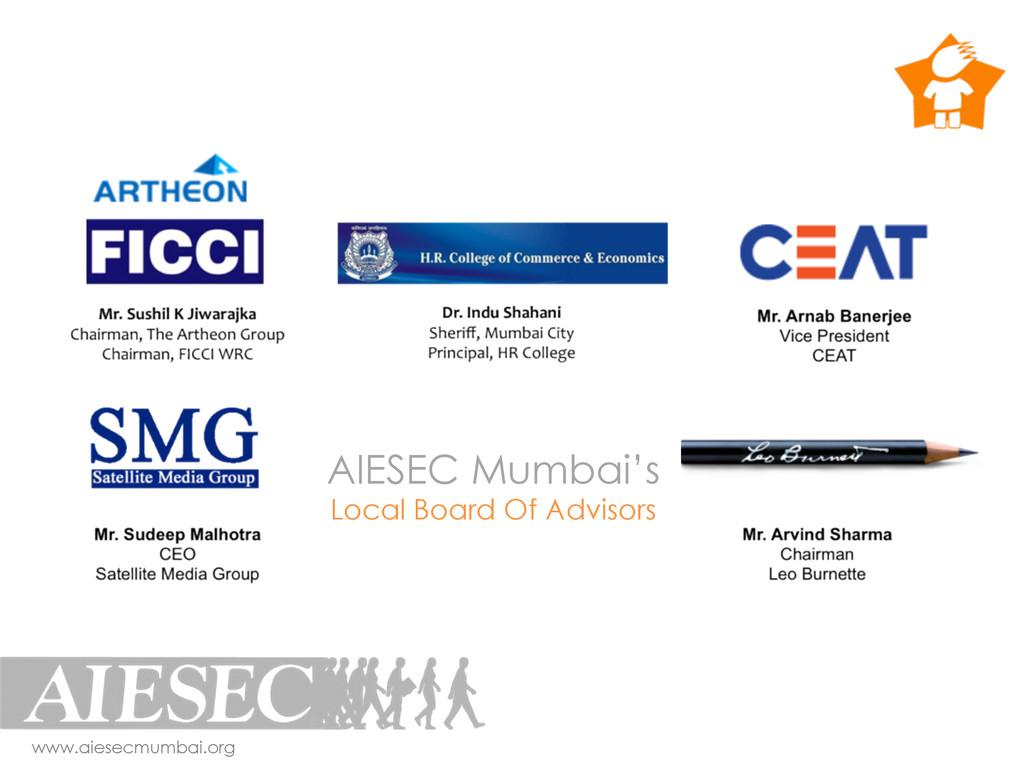 AIESEC Mumbai's Local Board Of Advisors www.aie...