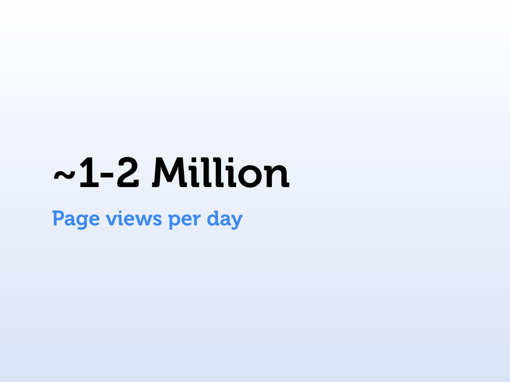~1-2 Million Page views per day