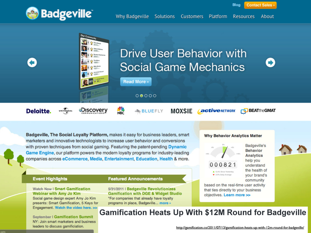 Gamification Heats Up With $12M Round for Badge...