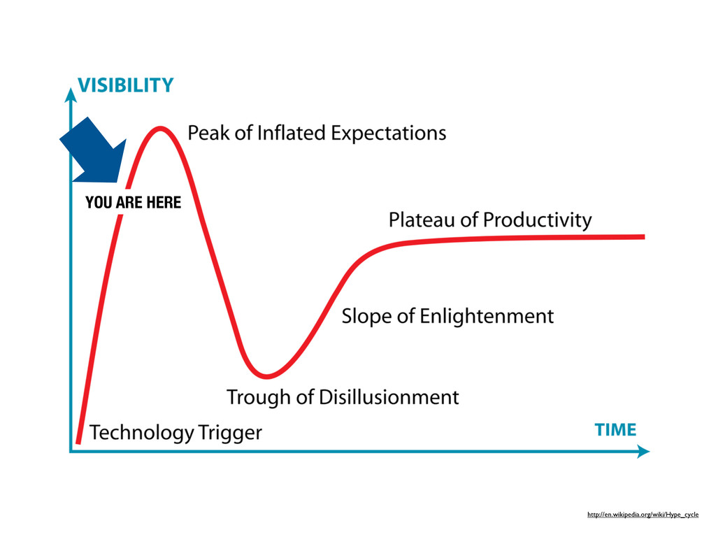 http://en.wikipedia.org/wiki/Hype_cycle YOU ARE...