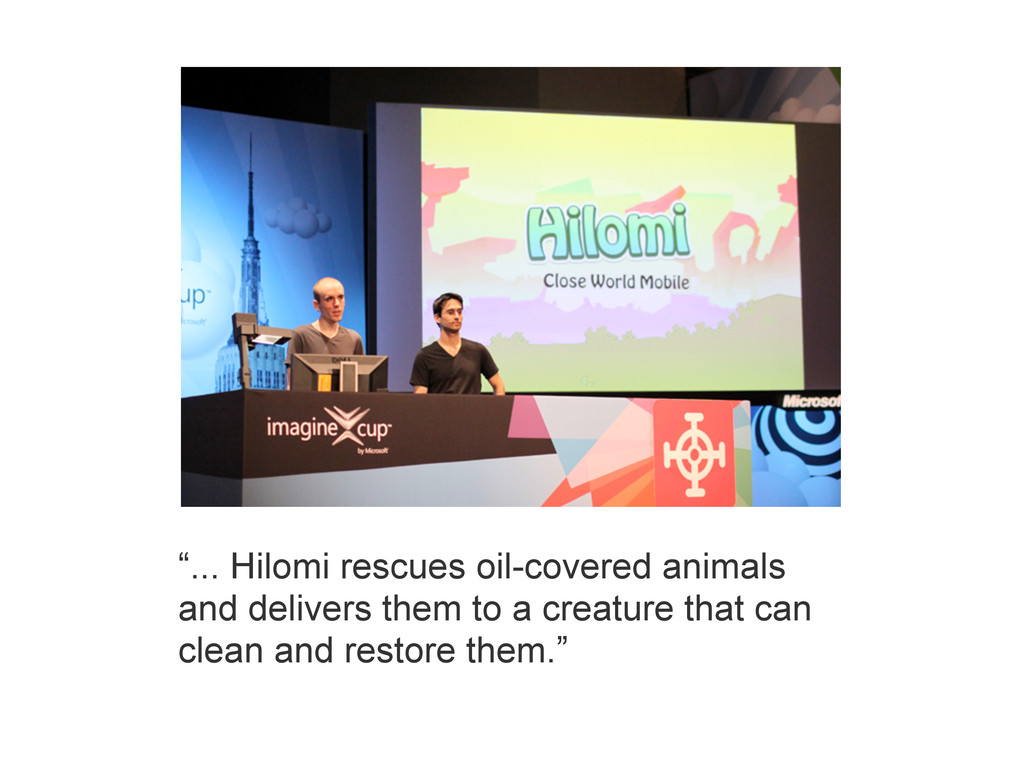 """""""... Hilomi rescues oil-covered animals and del..."""