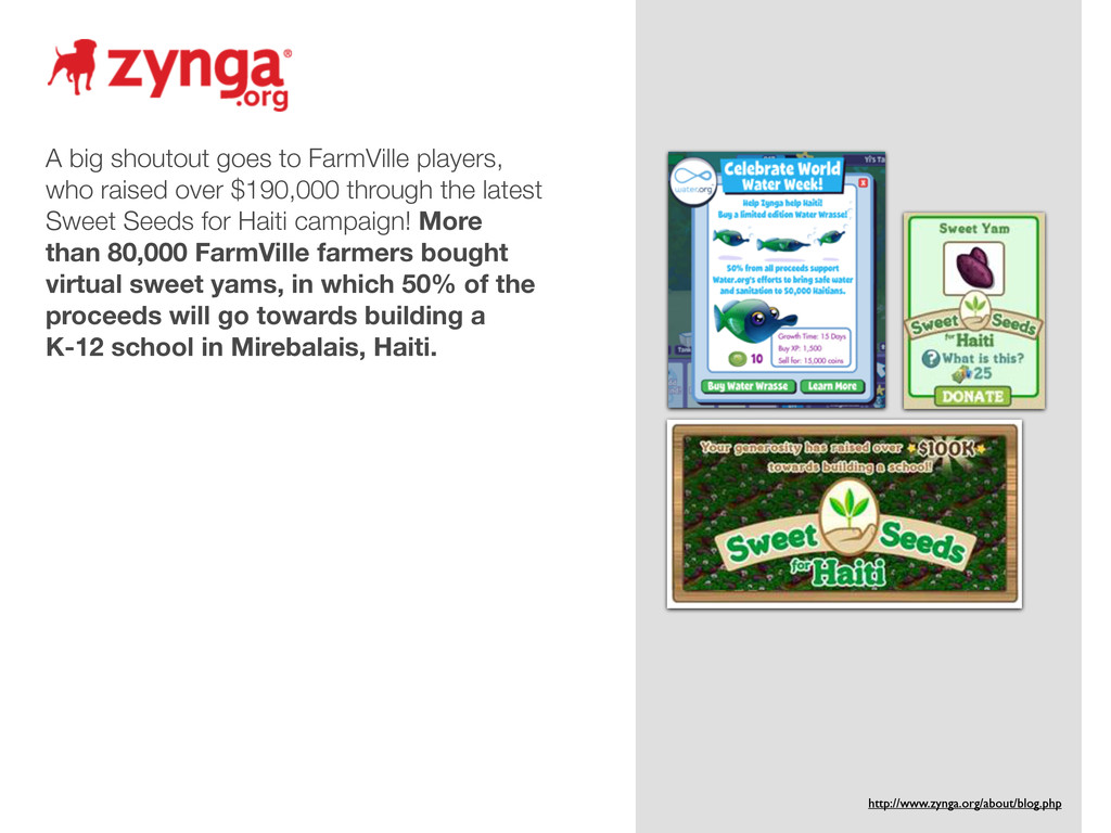 A big shoutout goes to FarmVille players, who r...