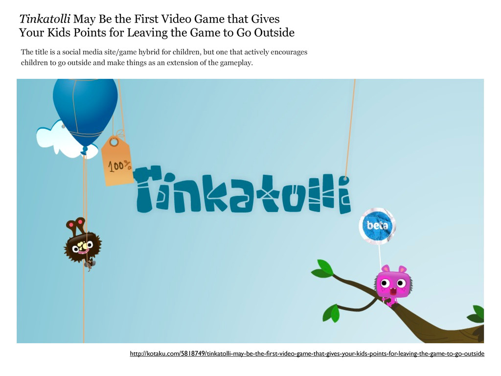 Tinkatolli May Be the First Video Game that Giv...