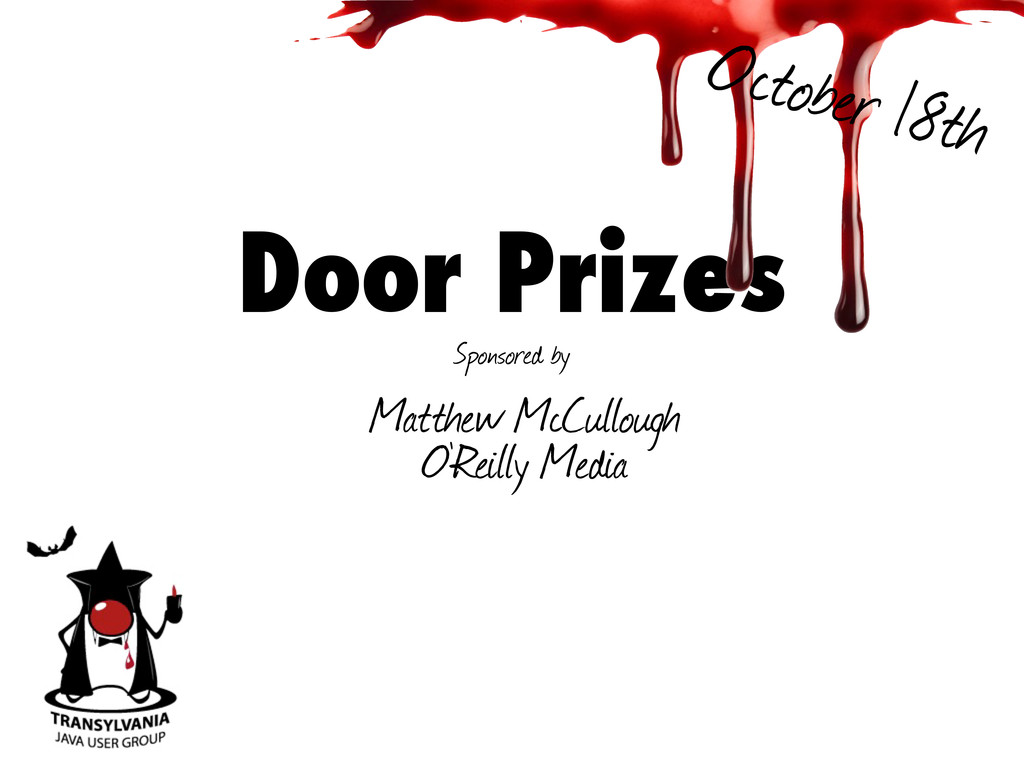 Door Prizes Sponsored by Matthew McCullough O'R...