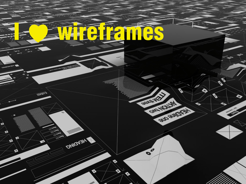 I wireframes