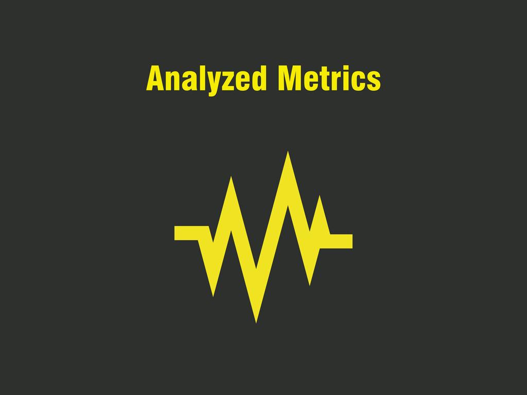 Analyzed Metrics
