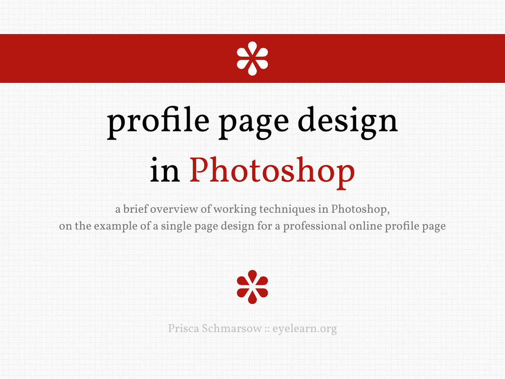 profile page design in Photoshop a brief overvie...