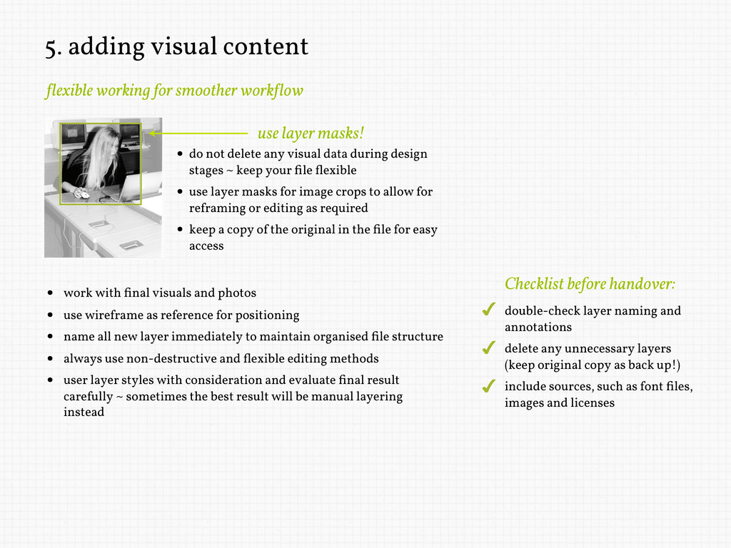 5. adding visual content !lexible working for s...